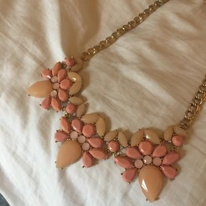 Multi-shade pink statement necklace